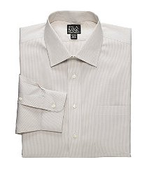 traveler collection tailored fit spread collar mini stripe dress shirt clearance, by jos. a. bank