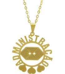 gargantilha horus import administraçáo dourado