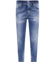 dondup light blue boy jeans with iconic metallic d