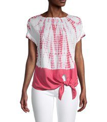 beach lunch lounge women's lumi tie-dyed top - rose tie dye - size m