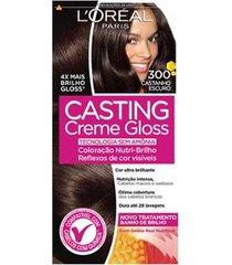 coloração casting creme gloss l'oréal paris 300 castanho escuro