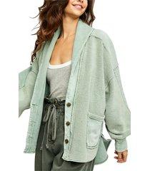 women's free people jordan jacket, size medium - green