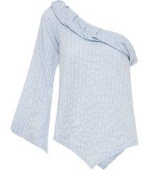 blusa feminina cambraia - azul