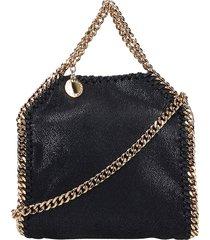 stella mccartney falabella tote in black faux leather