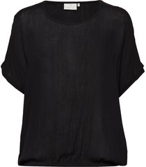 amber stanley ss blouses short-sleeved svart kaffe