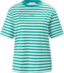 shirt van 100% katoen met ronde hals van lacoste groen