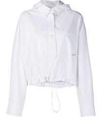 alexander wang henley shirt jacket - white
