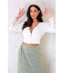 cropped blouse romance wit