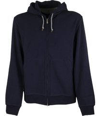 brunello cucinelli cotton interlock zip-front hooded sweatshirt