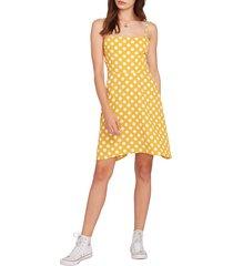 women's volcom read the room sleeveless dress, size x-large - yellow
