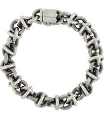 le gramme 191g vintage entrelacs bracelet - silver