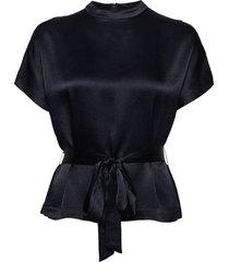 kimberly blouse ss 10447 blouses short-sleeved blauw samsøe & samsøe
