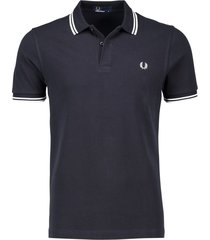 fred perry poloshirt navy met logo