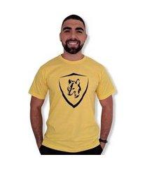 camiseta lobo brasão masculina