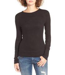 women's bp. ribbed long sleeve tee, size xx-small - black