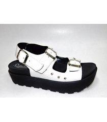 sandalia blanca tamara shoes
