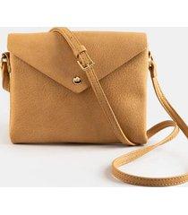 melanie envelope crossbody handbag - beige