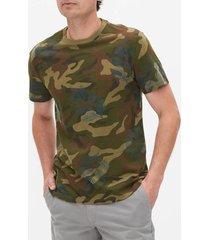 camiseta verde-café-azul gap