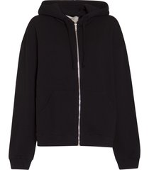 gucci logo hoodie with zip fastening