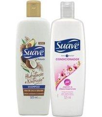 kit suave shampoo + cond. suave jasmim e óleos essenciais 325ml