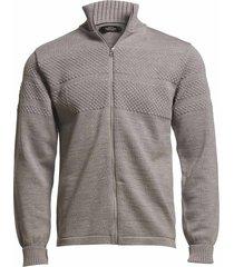 100% wool klemens zip stickad tröja cardigan grå mads nørgaard
