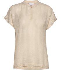 blouse w. buttons details blouses short-sleeved beige coster copenhagen