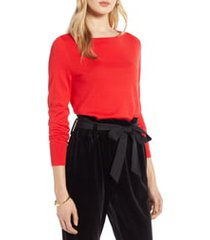 women's halogen boat neck sweater, size x-large - red