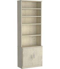estante livraria 2 portas 1277 marfim areia m foscarini