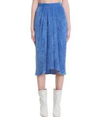 isabel marant vnkao skirt in blue viscose