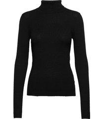 objthess l/s rollneck knit pullover noos turtleneck polotröja svart object