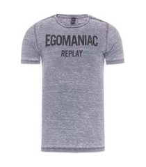 camiseta masculina egomaniac - cinza