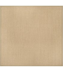 safavieh natural fiber maize and linen 10' x 10' sisal weave square rug