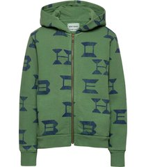 bobo choses all over zipped hoodie hoodie trui groen bobo choses