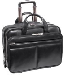 "mcklein bowery 15"" wheeled laptop briefcase"