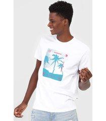 camiseta billabong cut palm branca