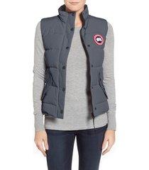 women's canada goose freestyle down vest, size xx-large (14w-18w) - grey