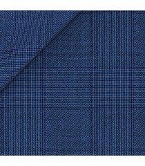 pantaloni da uomo su misura, loro piana, natural stretch azzurri principe di galles, quattro stagioni | lanieri