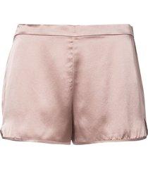 fleur du mal elasticated back silk shorts - pink