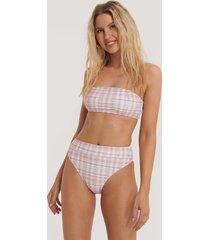 na-kd swimwear maxi highwaist bikini panty - pink
