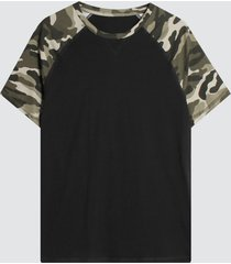 camiseta para hombre m/r militar camiseta hombre m/r militar color negro, talla l