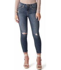 silver jeans co. avery high-rise skinny crop jeans