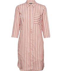 shirt style dress knälång klänning rosa marc o'polo