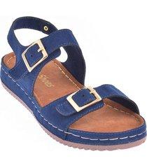priceshoes sandalia confort dama 162432azul