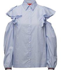 feminine shirt ls blouse lange mouwen blauw hilfiger collection
