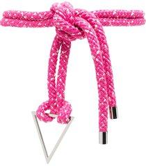 iro oversized knot rope belt - pink