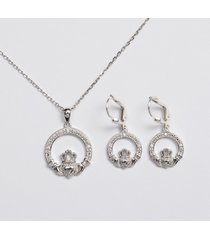 sterling silver claddagh jewelry set