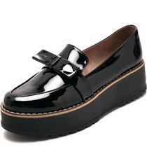 zapato negro plataforma moca nata