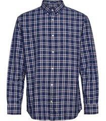 d1. oxford mouline check reg bd skjorta casual blå gant