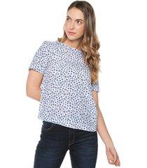 blusa blanco-azul tommy hilfiger