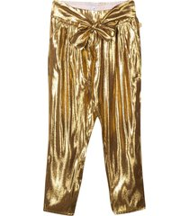 little marc jacobs gold trousers